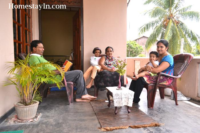 Host family in Negombo, Sri Lanka
