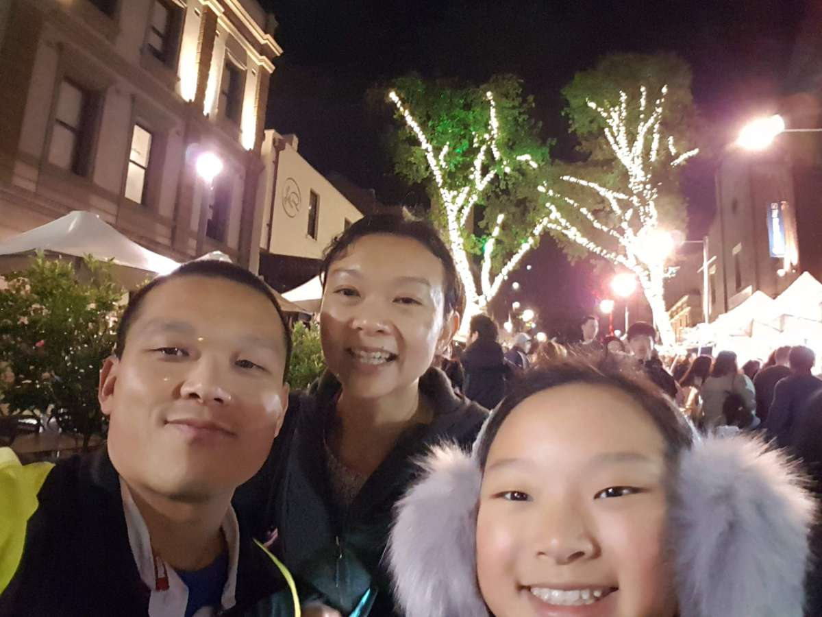 Host family in Mascot, Australia