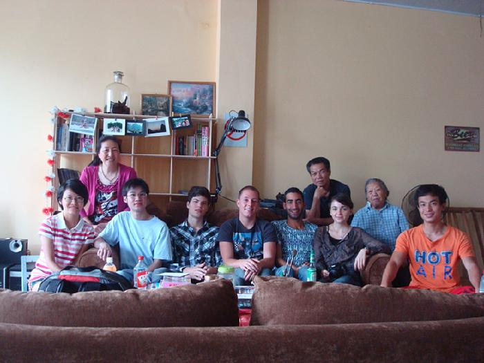Host family in Guilin, China