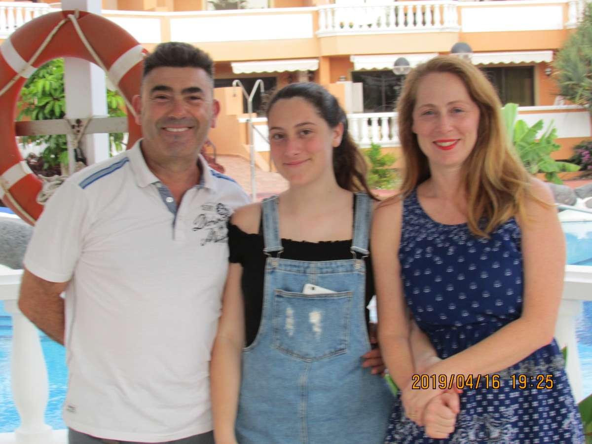 Host family in Santa Cruz de Tenerife, Spain