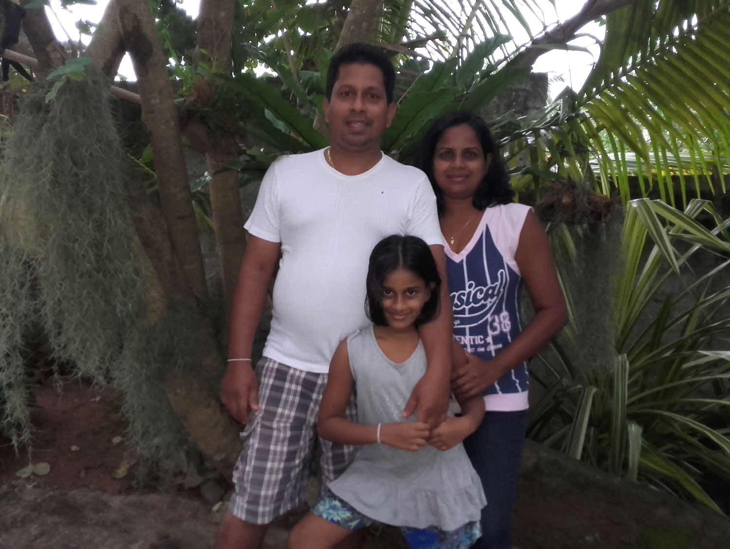 Host family in Ambalangoda, Sri Lanka