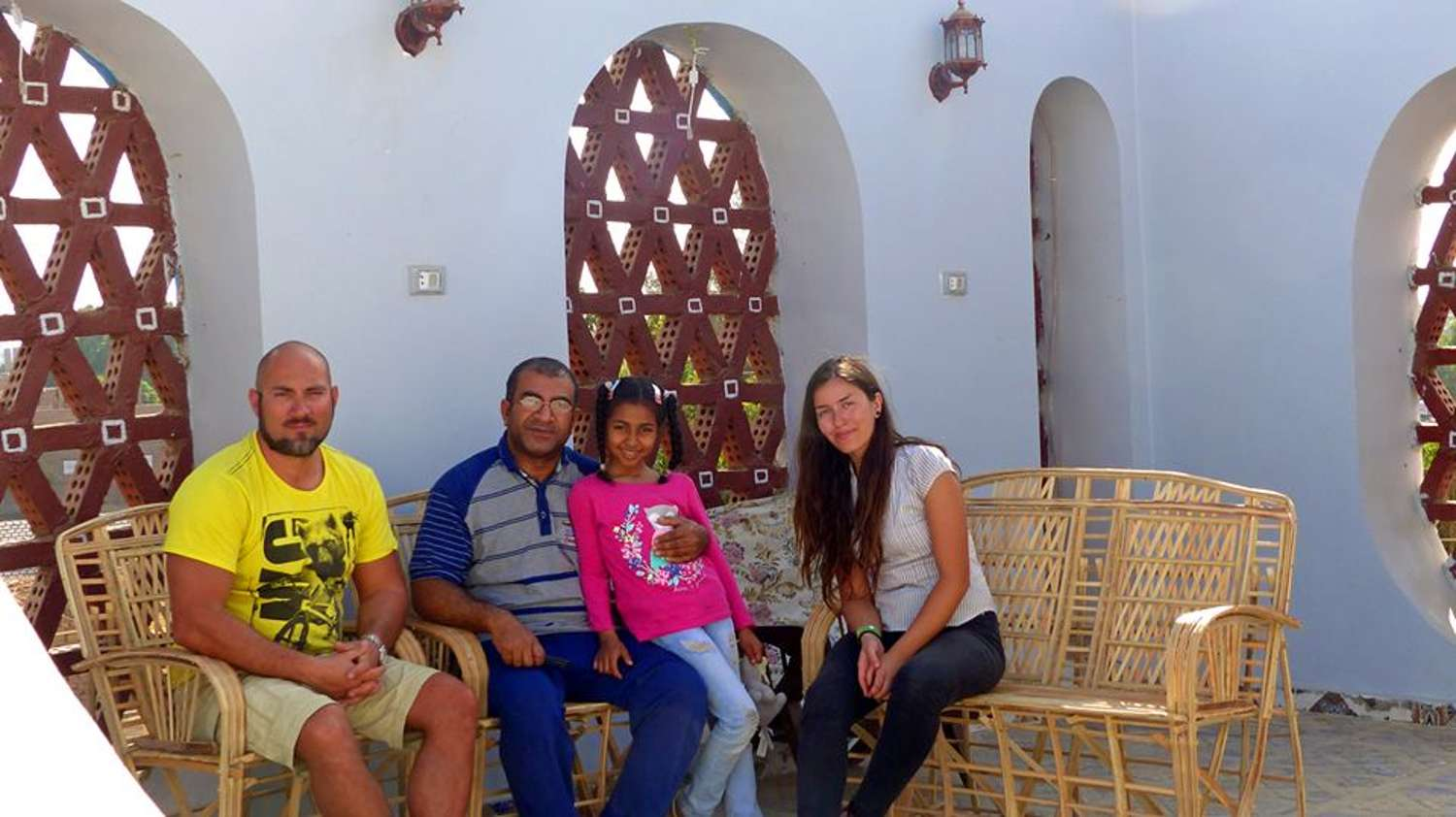 Host family in Idfa, Egypt