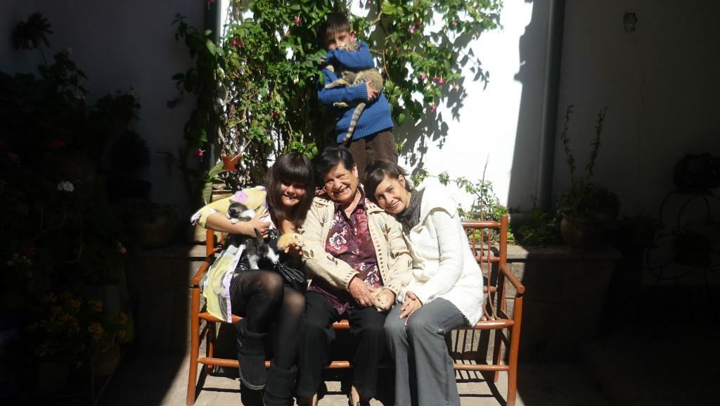 Host family in Cusco, Peru