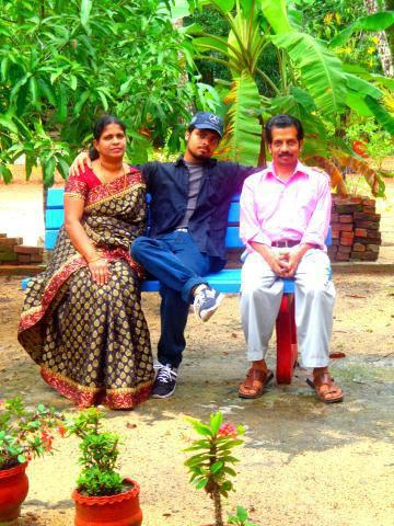 Host family in allapuzha, India