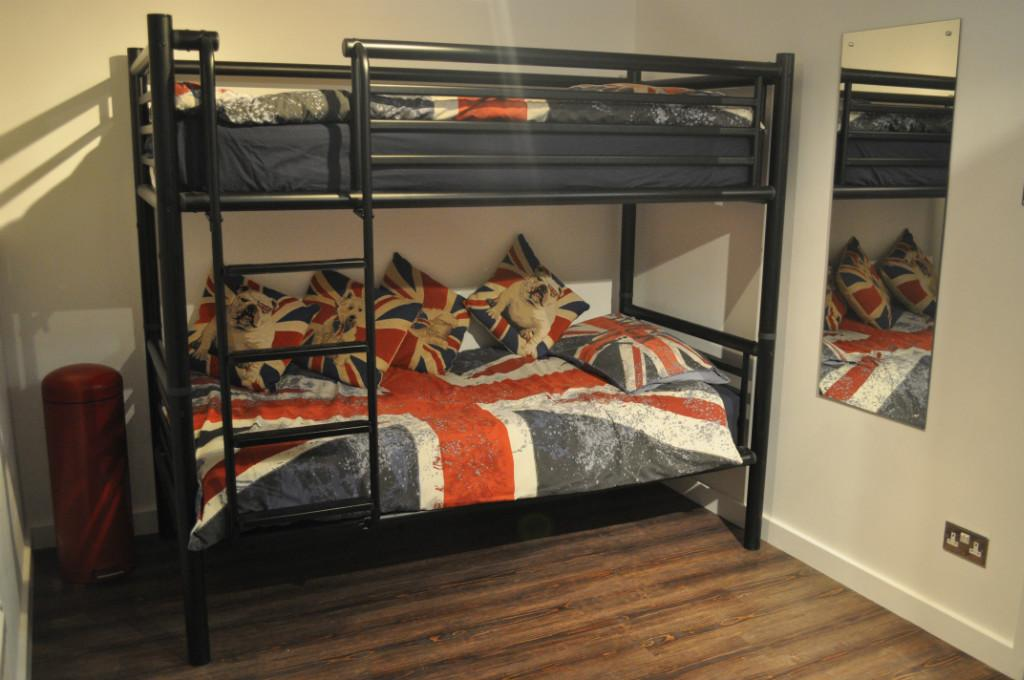 Two single beds room