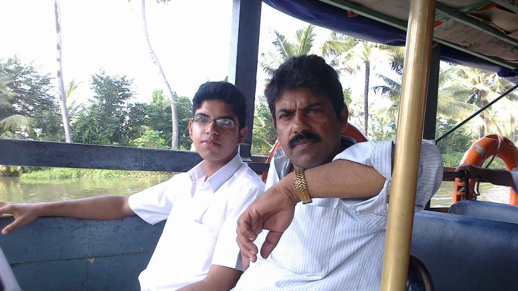 Host family in Kottayam near Kumarakom, India