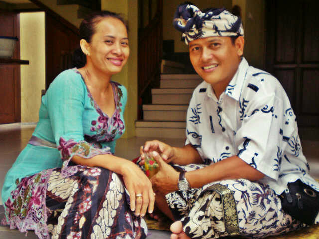 Host family in Denpasar, Indonesia